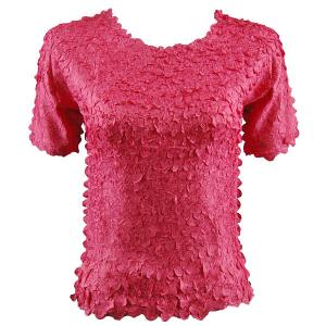 wholesale Petal Shirts - Short Sleeve  Solid Coral - Queen Size Fits (XL-3X)