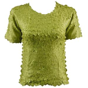 wholesale Petal Shirts - Short Sleeve  Solid Leaf Green - Queen Size Fits (XL-3X)