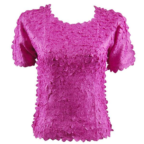 wholesale Petal Shirts - Short Sleeve  Solid Orchid - Queen Size Fits (XL-3X)