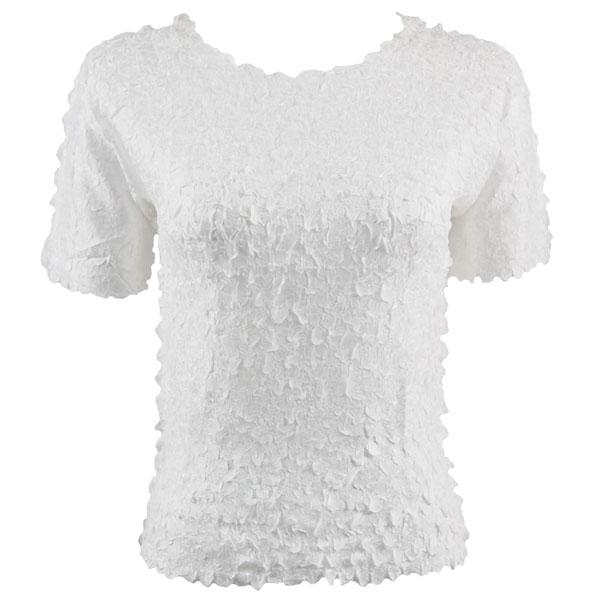 wholesale Petal Shirts - Short Sleeve  Solid White - One Size (S-XL)