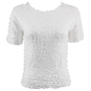 wholesale Petal Shirts - Short Sleeve  Solid White - Queen Size Fits (XL-3X)