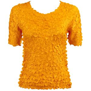 wholesale Petal Shirts - Short Sleeve  Solid Yellow - One Size (S-XL)