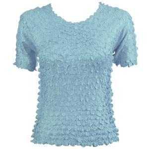 wholesale Petal Shirts - Short Sleeve  Solid Azure - One Size (S-XL)