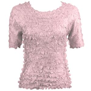 wholesale Petal Shirts - Short Sleeve  Solid Lilac - One Size (S-XL)