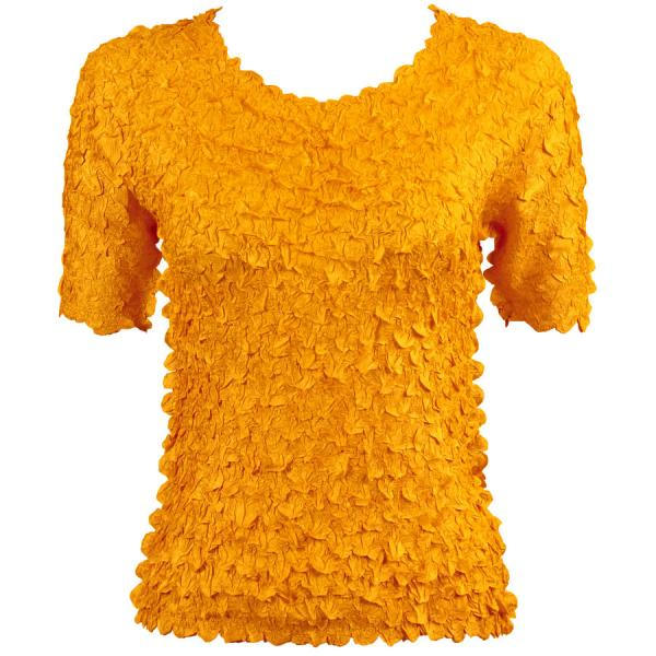 wholesale Petal Shirts - Short Sleeve  Solid Yellow - Queen Size Fits (XL-3X)