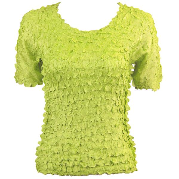 wholesale Petal Shirts - Short Sleeve  Solid Light Green - Queen Size Fits (XL-3X)