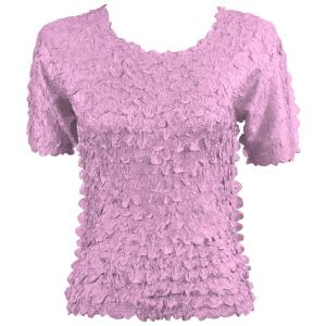 wholesale Petal Shirts - Short Sleeve  Solid Light Orchid - Queen Size Fits (XL-3X)