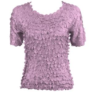 wholesale Petal Shirts - Short Sleeve  Solid Violet - Queen Size Fits (XL-3X)