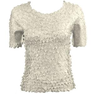 wholesale Petal Shirts - Short Sleeve  Solid Silver - Queen Size Fits (XL-3X)