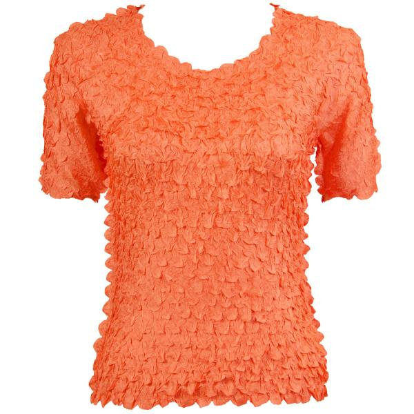 wholesale Petal Shirts - Short Sleeve  Solid Tangerine - One Size (S-XL)