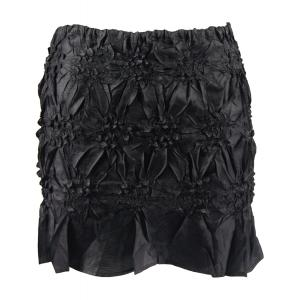 Origami - Mini Skirt/Bandeau*  Solid Black - One Size (S-XL)