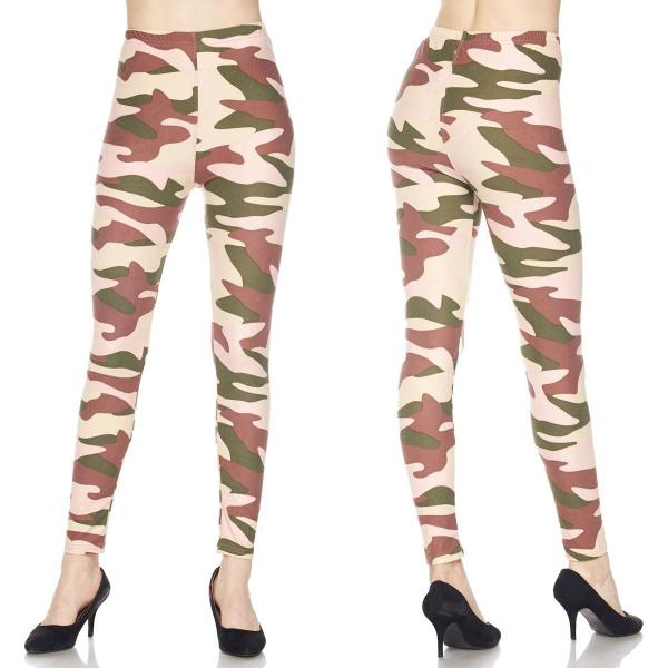 Wholesale Brushed Fiber Leggings - Ankle Length Prints SOL0P J127 Underground Camo Brushed Fiber Leggings P - Ankle Length Prints MB - Curvy Fits (L-1X)