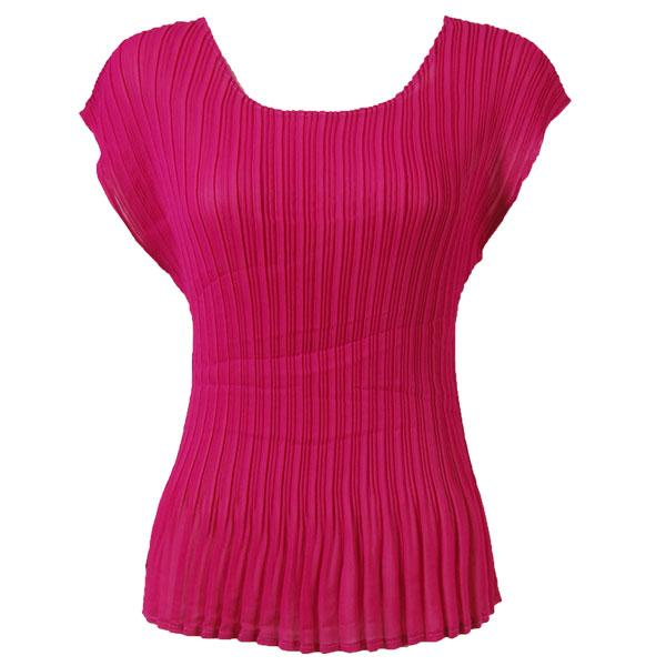 Georgette Mini Pleats - Cap Sleeve Solid Magenta - One Size (S-L)