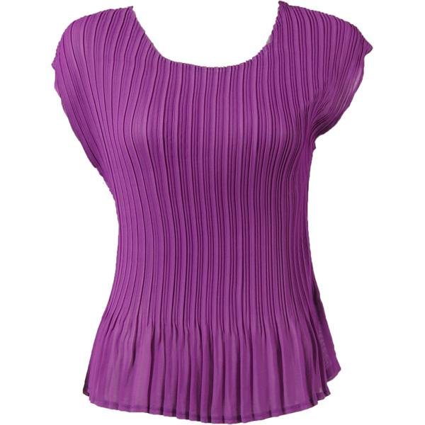 Georgette Mini Pleats - Cap Sleeve Solid Orchid - One Size (S-L)