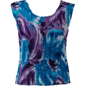 Magic Crush Georgette - Sleeveless* Turquoise-Purple Watercolors - Standard Size Fits (S-M)