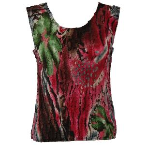 Magic Crush Georgette - Sleeveless* Abstract Floral - Pink-Green - Standard Size Fits (S-M)