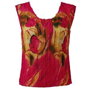 Magic Crush Georgette - Sleeveless* Tulips Magenta-Gold - Standard Size Fits (S-M)