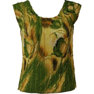 Magic Crush Georgette - Sleeveless* Tulips Green-Gold - One Size (S-M)