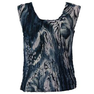 Magic Crush Georgette - Sleeveless* Abstract Floral - Navy-White - One Size (S-M)
