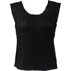Magic Crush Georgette - Sleeveless* Solid Black  - Standard Size Fits (S-M)