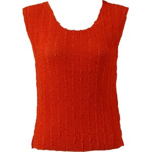 Magic Crush Georgette - Sleeveless* Solid Orange  - Standard Size Fits (S-M)