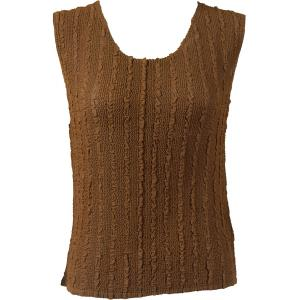 Magic Crush Georgette - Sleeveless* Solid Brown - Standard Size Fits (S-M)