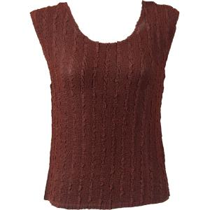 Magic Crush Georgette - Sleeveless* Solid Chestnut - Standard Size Fits (S-M)