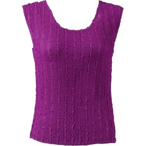 Magic Crush Georgette - Sleeveless* Solid Orchid  - Standard Size Fits (S-M)