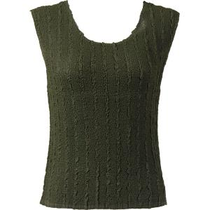 Magic Crush Georgette - Sleeveless* Solid Moss  - Standard Size Fits (S-M)