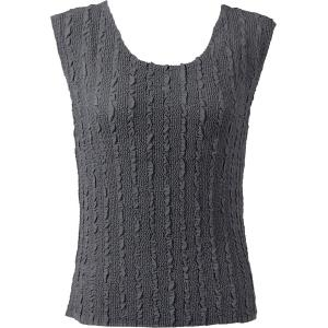 Magic Crush Georgette - Sleeveless* Solid Charcoal - Standard Size Fits (S-M)