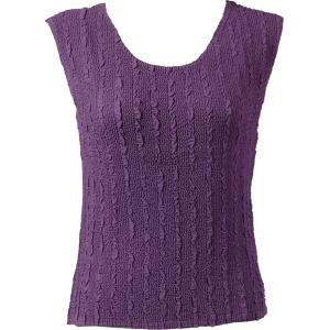 Magic Crush Georgette - Sleeveless* Solid Dusty Grape - Standard Size Fits (S-M)