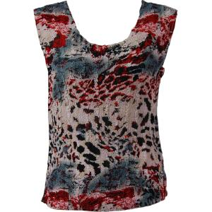 Magic Crush Georgette - Sleeveless* Reptile Floral - Red - Plus Size (L-XL)