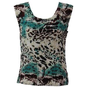 Magic Crush Georgette - Sleeveless* Reptile Floral - Teal - Plus Size (L-XL)