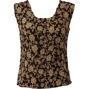 Magic Crush Georgette - Sleeveless* Floral - Brown-Ivory - Plus Size (L-XL)