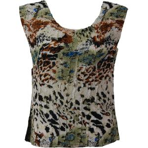 Magic Crush Georgette - Sleeveless* Reptile Floral - Light Green - Plus Size (L-XL)