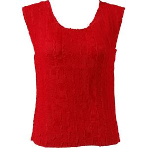 Magic Crush Georgette - Sleeveless* Solid Red  - Plus Size (L-XL)