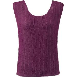 Magic Crush Georgette - Sleeveless* Solid Eggplant - Plus Size (L-XL)