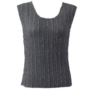 Magic Crush Georgette - Sleeveless* Solid Charcoal - Plus Size (L-XL)