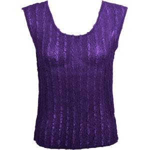 Magic Crush Georgette - Sleeveless* Solid Purple  - Standard Size Fits (S-M)