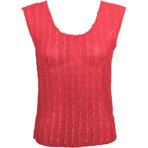 Magic Crush Georgette - Sleeveless* Solid Coral  - Plus Size (L-XL)