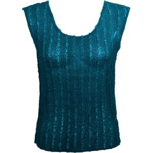 Magic Crush Georgette - Sleeveless* Solid Teal  - Plus Size (L-XL)