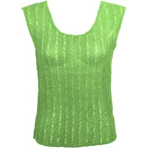 Magic Crush Georgette - Sleeveless* Solid Lime  - Plus Size (L-XL)