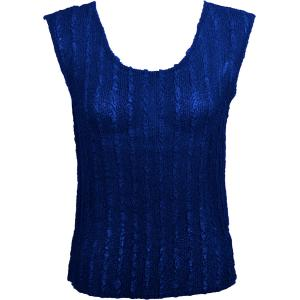 Magic Crush Georgette - Sleeveless* Solid Royal  - Plus Size (L-XL)