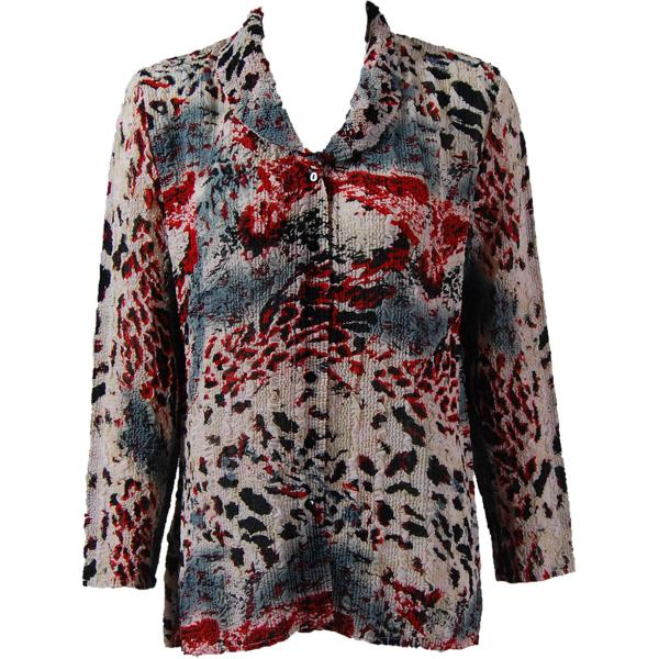 Magic Crush Georgette - Blouse* Reptile Floral - Red - One Size  Fits (S-M)