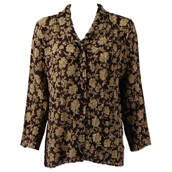 Magic Crush Georgette - Blouse* Floral - Brown-Ivory - One Size  Fits (S-M)