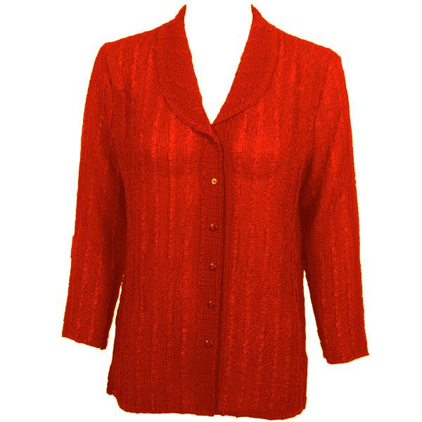 Magic Crush Georgette - Blouse* Solid Red - One Size  Fits (S-M)