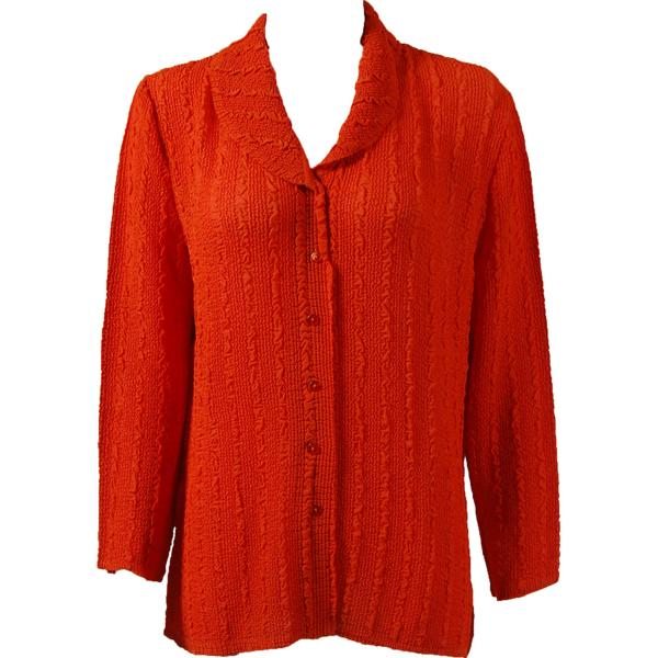 Magic Crush Georgette - Blouse* Solid Orange - One Size  Fits (S-M)