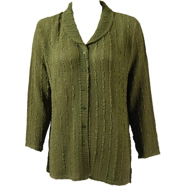 Magic Crush Georgette - Blouse* Solid Olive - One Size  Fits (S-M)