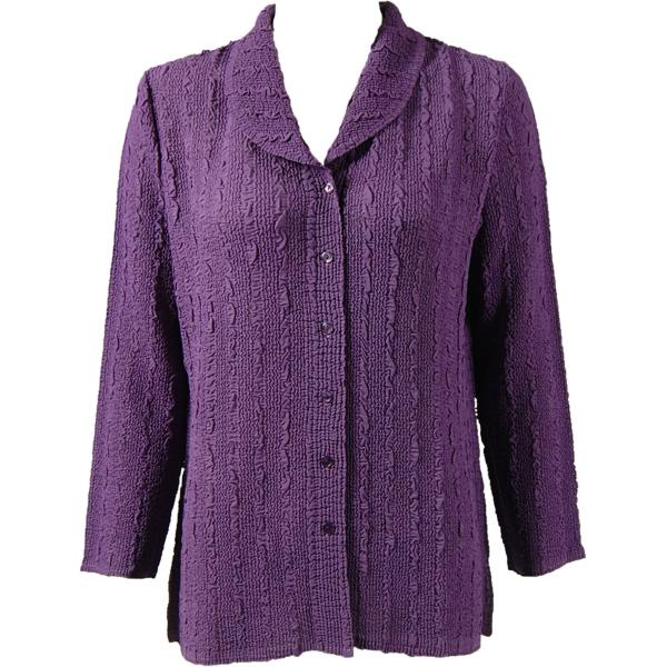 Magic Crush Georgette - Blouse* Solid Dusty Grape - One Size  Fits (S-M)
