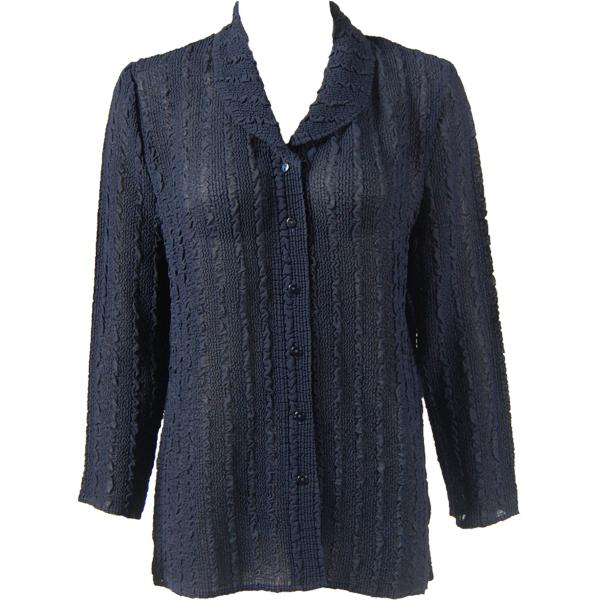 Magic Crush Georgette - Blouse* Solid Midnight - One Size  Fits (S-M)